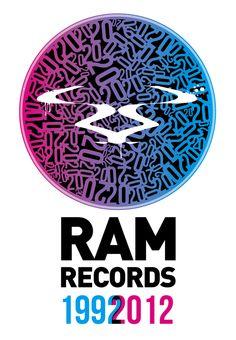 Ram Records 20 years artwork by Gavin Wallace, via Behance