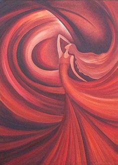 Midnight Dance - © 2007 Anita Burnaz -  Painting Online Artworks