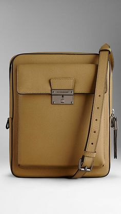 Small Colour Coated London Leather Crossbody Satchel | Burberry