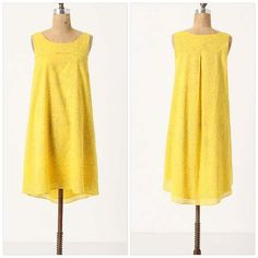 """Anthropologie Sun Soaked Shift Dress Crisp cotton, overgrown with outlined vines, is steeped in a solar shade. By HD in Paris. Pullover styling. Cotton; cotton lining. Machine wash. 39.25""""L. Excellent condition. *No trades / No PP / 15% off bundles* Anthropologie Dresses"""
