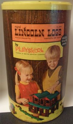 Lincoln Logs.  OMG, Lee and I played for hours on end.  And every generation since!  How fun to remember this old stuff. 