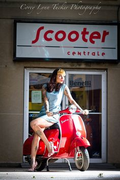 Vintage Scooter Girl