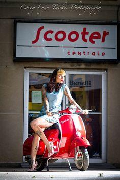 Vintage Scooter Girl