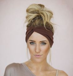"Add some Bohemian vibes to your look with our Solid Twist Boho Headband! These elastic headbands are great for messy hair days, yoga, workouts and festival looks. Length 9.5""Width 3.75"". Material: Cot"