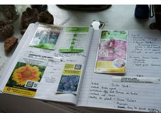 This Blogger has a Wonderful idea of keeping a Garden Journal! I love it <3 Do you garden? For every house, I keep a garden journal. The garden journal is started on my first day in the house.