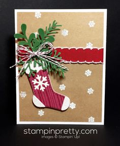 ORDER STAMPIN' UP! ON-LINE! Make a holiday card statement with the Christmas Stockings Thinlits Dies. 1000+ card ideas & daily tips!