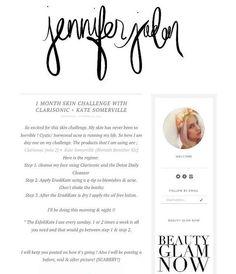 Custom Illustrated Blog Header by Queenikathleeni on Etsy