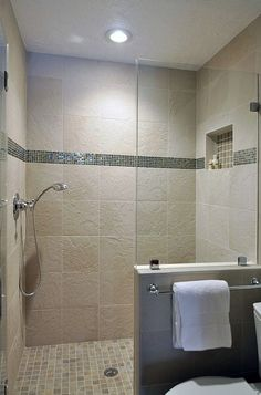 Shower Bathroom Remodel. I like the concept but I need a better shower system then that one low shower head .