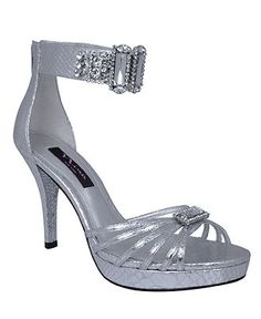Nina Shoes, Garima Evening Sandals - Evening & Bridal - Shoes - Macy's $129 ...tried on at Dillards.  LOVE them.