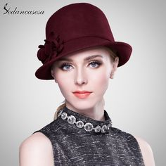 Winter women hat Christmas Gift Keep warm fashion wool felt hat youth wool cloche hat with handmade flower Like if you are Excited! #shop #beauty #Woman's fashion #Products #Hat