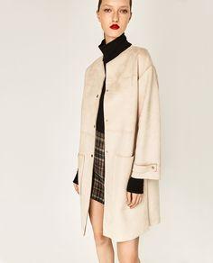 FAUX SUEDE COAT-Coats-OUTERWEAR-WOMAN | ZARA