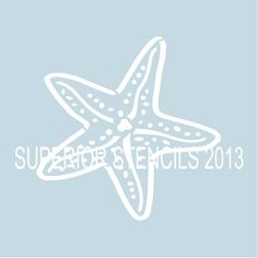 Starfish Stencils 7 Sizes available- Create Beach Pillows and Beach Signs Beach Stencils, Sign Stencils, Custom Stencils, Letter Stencils, Stencil Templates, Stencil Designs, Stencil Lettering, Stencil Fabric, Fabric Painting