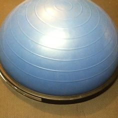 One of my favorite pieces of equipment in the home gym..the bosu ball