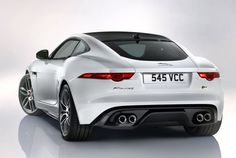 Jaguar launches F-type coup at Los Angeles Auto Show: the rear view is one of the best.
