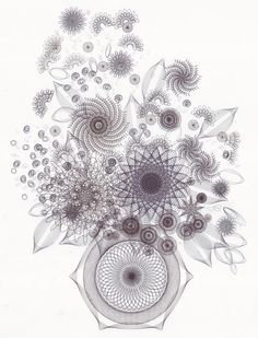 black and white drawing of geometric - Google Search
