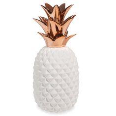 COPPER white porcelain pineapple ornament H 40 cm