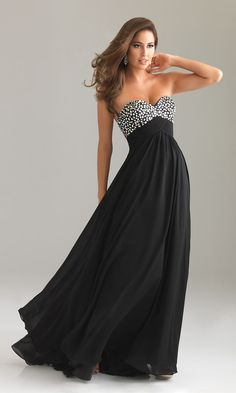 EMPIRE WAIST STRAPLESS FORMAL GOWN BY NIGHT MOVES 6446