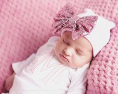ae006286978a Baby hospital hat baby girl hat newborn hat CHOOSE HAT bow hat girl ...