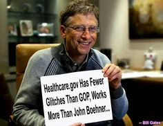 Bill Gates on Obamacare.  Go Bill!