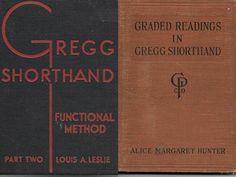 2 Gregg Shorthand Textbooks Vintage 1919 & 1942 $8. w/FS