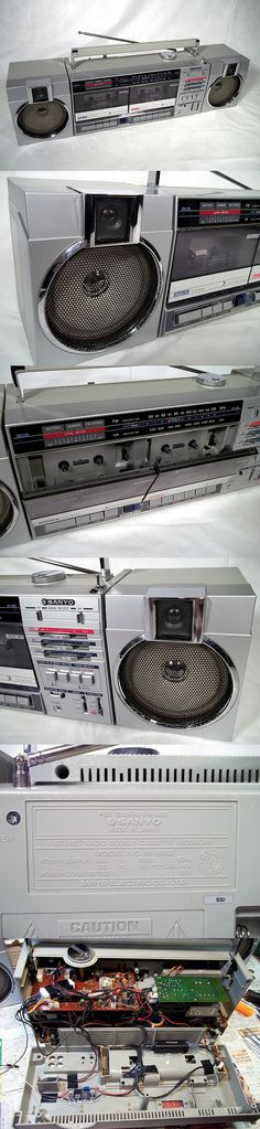 Sold Vintage 80's SANYO M-W22 double cassette radio boombox w/ Bluetooth Made in Japan