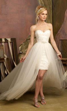 high low wedding dress. Reception dress