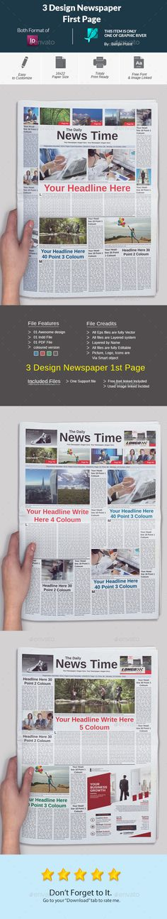 Business Newsletter Business - newspaper headline template