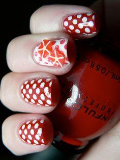 Polka Dot Nail Art #manicure #nailart