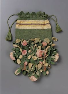 Late 18th century, Italy or France - Bag - Silk; Knitting