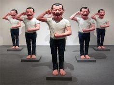 Yue Minjun - Terracotta Warriors