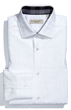Burberry London Trim Fit Dress Shirt available at #Nordstrom