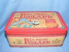 Advertising Tin Mere La Poulard Biscuits French France Tin Kitchenalia
