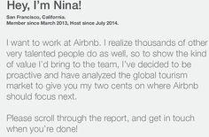 nina4airbnb | leuke manier van solliciteren