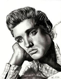 Elvis Presley by LisaKellerer.deviantart.com on @DeviantArt