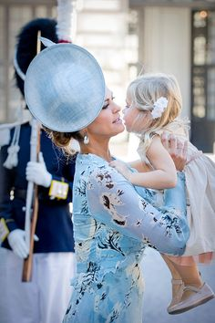 Princess Madeleine of Sweden and Princess Leonore of Sweden arrive for a thanksgiving service on the occasion of The Crown Princess Victoria of Sweden's 40th birthday celebrations at the Royal Palace on July 14, 2017 in Stockholm, Sweden.