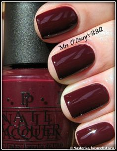 One of my fav opi shades :) Opi/Mrs. O'leary's BBQ