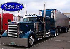 Big Rig Trucks, Semi Trucks, Cool Trucks, Peterbilt 359, Peterbilt Trucks, Train Truck, Road Train, Cement Mixers, Flatbed Trailer
