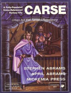 Carse, a role playing game supplement set in the city of Carse in Midkemia. #Midkemia #RPG