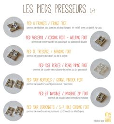 Pieds Presseurs 1/4 #Couture #DIY