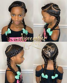 Natural Hairstyles For Kids, Natural Hair Styles, Jumbo Cornrows, Kid Braid Styles, Ghana Braids, Braids For Kids, Ponytail, Girl Hairstyles, Atlanta