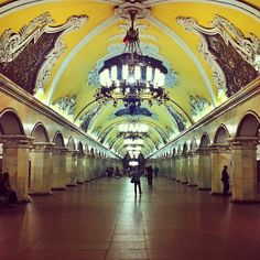 New reasons to go to Moscow, the metro.. Photo by tovsla • Instagram