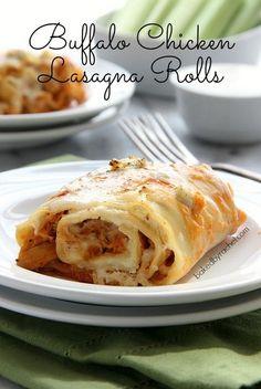 Buffalo Chicken Lasagna Rolls   Baked by Rachel