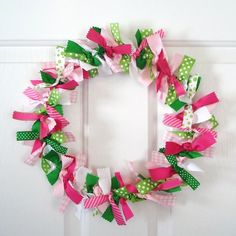 Instead of a wreath form, use a quilting hoop. Less ribbon/fabric to purchase!
