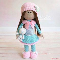 Интерьерная кукла большеножка крючком - Амигуруми - Страна Мам
