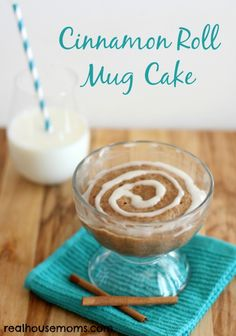 Cinnamon Roll Mug Cake is a delicious, quick, and easy dessert that will be a huge hit and disappear fast! It is also great for a special weekend breakfast treat!