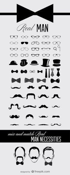 Pack icônes moustachues à télécharger gratuitement #moustache