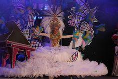 Grupo Mascarada Carnaval: La candidata del C.C. Atlántico, Ainely Alvarado, ...
