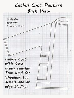 Pintucks: Bonnie Cashin: Coat Pattern Draft for Leather and Canvas Coat
