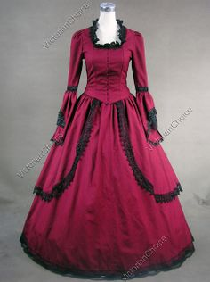 Marie Antoinette Victorian Period Dress Ball Gown Steampunk Prom Reenactment Theatre Clothing