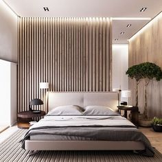 #ModernHomeMonday: Keep the warmth and glow of wood inside your home. This modern wooden bedroom design makes it both functional and aesthetic. Add a touch of green by placing indoor plants! Follow us on instagram for more of these: @lakesammprop